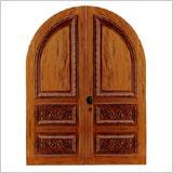 Serramenti Lima: Portone legno arco 1